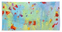 Floral Abstract Coloful Painting Bath Towel