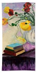 Floral Abstract Hand Towel
