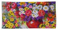 Floral Abundance Hand Towel