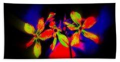 Floral Aurora Borealis   Bath Towel