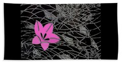 Hand Towel featuring the digital art Floral Chirimen by Asok Mukhopadhyay