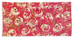 Floral Design Hand Towel