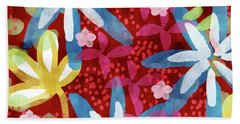 Floral Fantasy 2- Art By Linda Woods Hand Towel