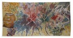 Floral Fantasy Hand Towel by Al Brown