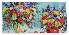 Floral Fantasy Hand Towel by Alexandra Maria Ethlyn Cheshire