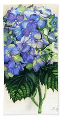 Bath Towel featuring the painting Floral Favorite by Barbara Jewell