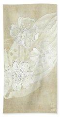 Bath Towel featuring the digital art Floral Imprints by Judy Hall-Folde