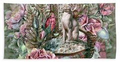 Floral Kitty Chair Hand Towel
