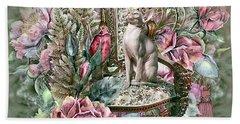 Floral Kitty Chair Bath Towel