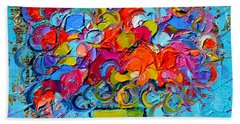 Floral Miniature - Abstract 0415 Bath Towel