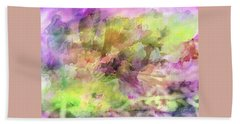 Floral Pastel Abstract Bath Towel by Mikki Cucuzzo