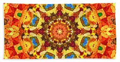 Mandala Of The Sun Hand Towel