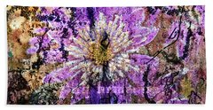 Floral Poetry Of Time Bath Towel