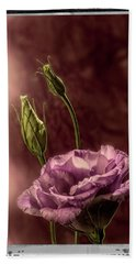 Floral Polaroid Transfer Hand Towel