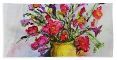 Hand Towel featuring the painting Floral Still Life 05 by Linde Townsend