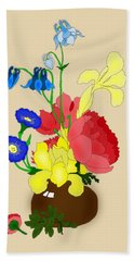 Floral Still Life 1674 Bath Towel