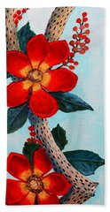 Bath Towel featuring the painting Floral Still Life by M Diane Bonaparte