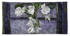 Hand Towel featuring the photograph Floral Window Frame by Bonnie Willis