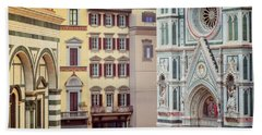 Bath Towel featuring the photograph Florence Italy View by Joan Carroll