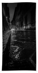 Bath Towel featuring the photograph Florence Nights by Sonny Marcyan
