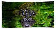 Florida Alligator Encounter Hand Towel