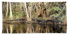 Bath Towel featuring the photograph Florida Gators - Everglades Swamp by Jerry Battle