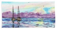 Hand Towel featuring the painting Florida Keys Islamorada Shore by Irina Sztukowski