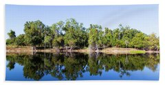Florida Lake And Trees Hand Towel