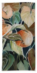 Florida Oranges Hand Towel by Mindy Newman