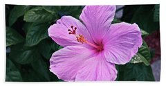 Florida Pink Hibiscus Bath Towel
