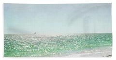 Bath Towel featuring the photograph Florida Sailboat Tropical Ocean Landscape by Andrea Hazel Ihlefeld