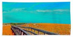 Florida Sand Dunes Atlantic New Smyrna Beach Bath Towel