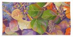 Florida Sea Grape Tree Bath Towel