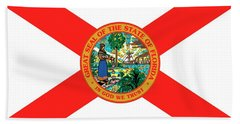 Florida State Flag Hand Towel by American School