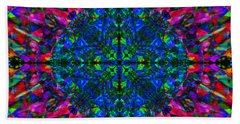 Flower Abstract 9 Bath Towel by Mike McGlothlen