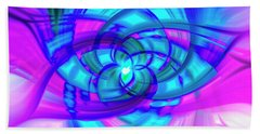 Flower Abstract Hand Towel by Penny Lisowski