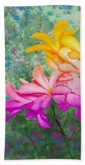 God Made Art In Flowers Bath Towel