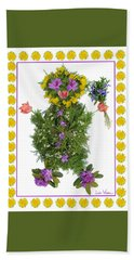 Hand Towel featuring the digital art Flower Baby by Lise Winne