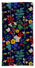 Flower Bed Bath Towel