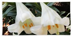 Bath Towel featuring the photograph Flower Bells Twins by Jasna Gopic