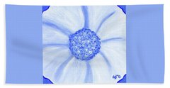 Flower Blue Power Bath Towel