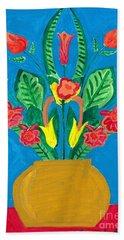 Flower Bowl Hand Towel by Margie-Lee Rodriguez