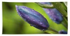 Flower Buds With Dew Drops Bath Towel