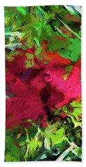 Flower Christmas Red Green Pink Hand Towel