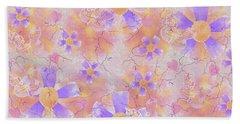 Flower Clown Pattern Hand Towel