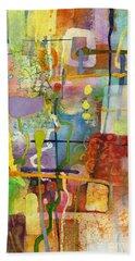 Flower Dance Hand Towel by Hailey E Herrera