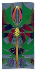 Flower Design Hand Towel