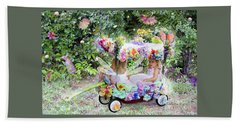 Flower Fairies In A Flower Mobile Hand Towel