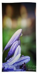 Bath Towel featuring the photograph Flower Fire Light Bokeh by Ella Kaye Dickey
