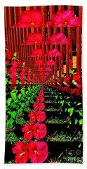 Flower Garden Abstract Bath Towel by Marsha Heiken